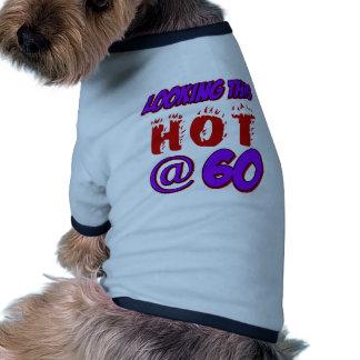 60 years old birthday designs dog tee
