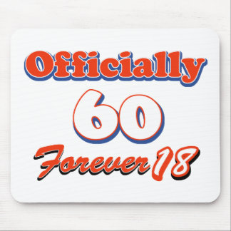 60 years old birthday designs mousepads