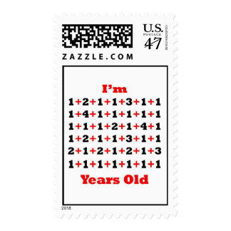 60 Years old Blk Red Postage