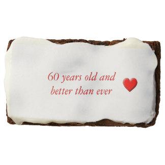 60 Years Old Rectangular Brownie