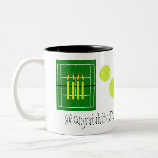 60...you just won...by Lake Tennis Two-Tone Coffee Mug