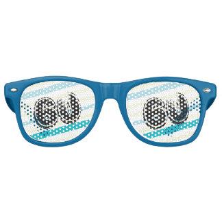 60 yr Bday Striped 60th Birthday Retro Sunglasses