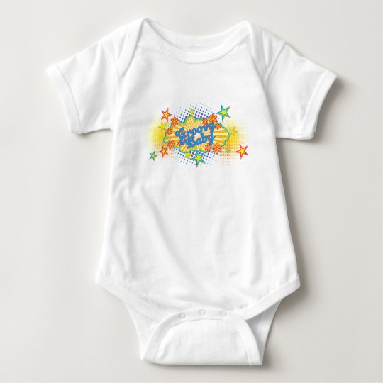 60s 70s Groovy Stars Flower Power Baby Pacifier Baby Bodysuit