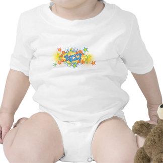 60s 70s Groovy Stars Flower Power Baby Pacifier Shirt