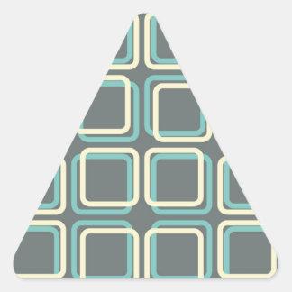 60s Boxes Triangle Sticker