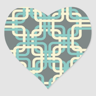 60s Boxes Heart Sticker