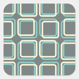 60s Boxes Square Sticker
