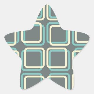 60s Boxes Star Sticker