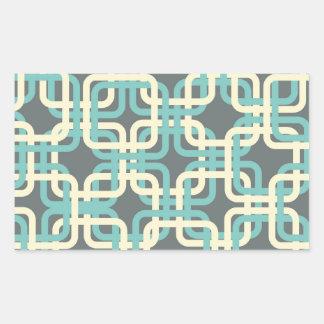 60s Boxes Rectangular Sticker