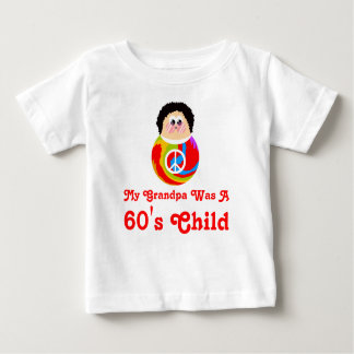 60's Child Funny Cartoon Peace Kid Tee Shirts