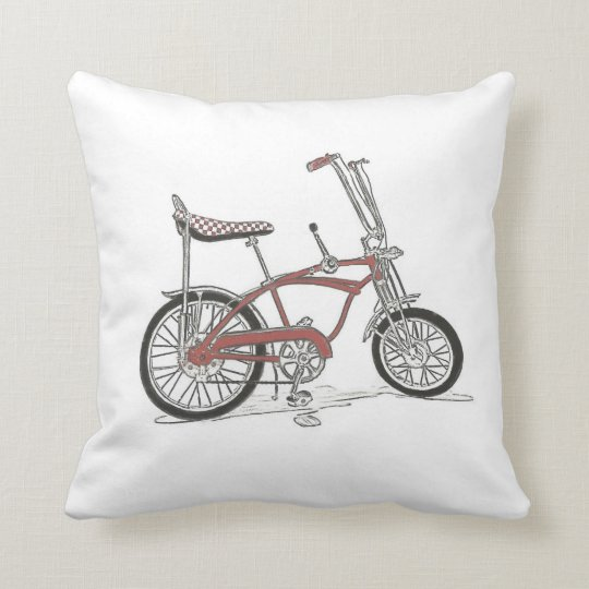 60's Classic Stingray Muscle Bike Bicycle Throw Pillow