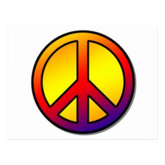 60's Clean Peace Sign 1 Postcard