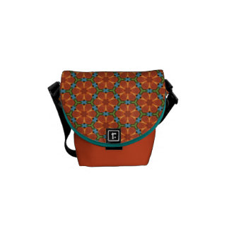 60s Design 01 Sixties Floral Flower Tiled Repeat Courier Bag
