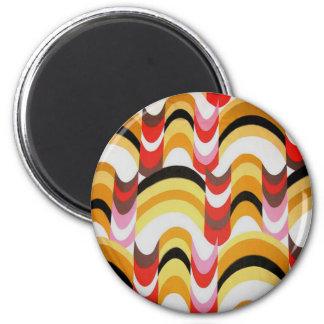 60's Designs 2 Inch Round Magnet