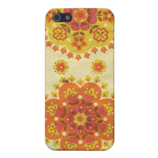 60's Floral Pattern Cover For iPhone SE/5/5s