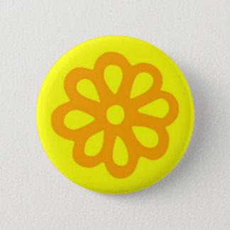 60's flower button