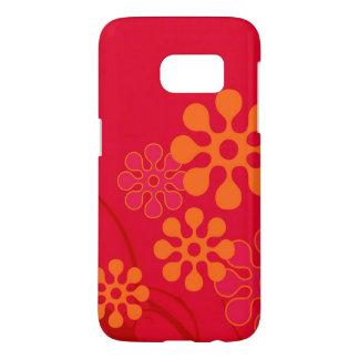60s Flower Cell Phone Design Samsung Galaxy S7 Case
