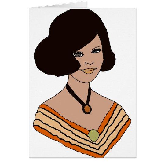 60s girl in Orange Card