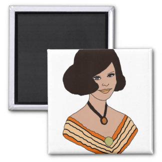 60s girl in Orange Magnet