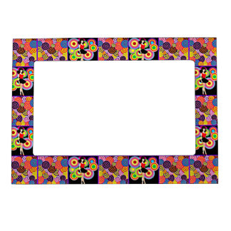 '60s Girl on Splashy Background Magnetic Picture Frame