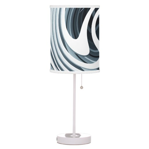 60 39 s black white table lamp only please see notes lamps zazzle. Black Bedroom Furniture Sets. Home Design Ideas