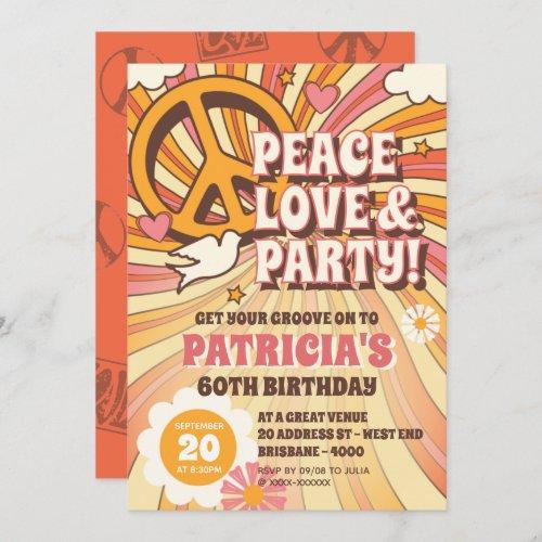 60s Hippie Party Invitation