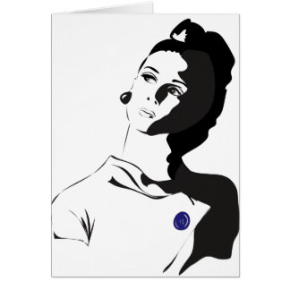 60's Lady Card
