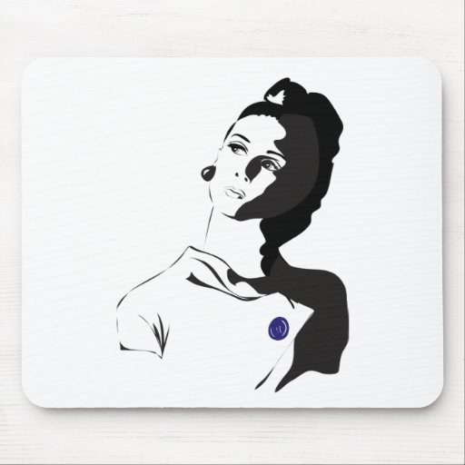 60's Lady Mouse Pad