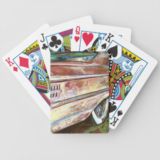 60s muscle bicycle playing cards
