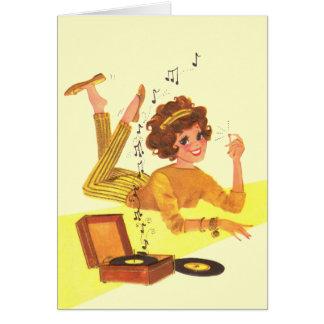 60's Music Girl Card