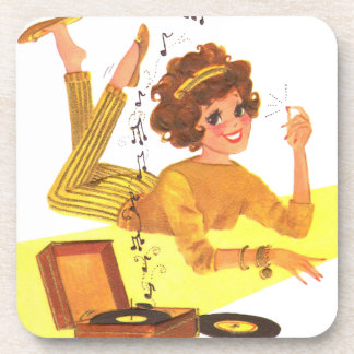 60's Music Girl Coaster
