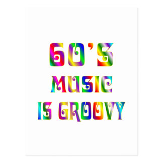 60s Music Postcard