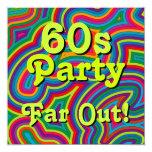 60s Party Invitation 13 Cm X 13 Cm Square Invitation Card