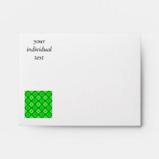 60s pattern MARLENE, green Envelope