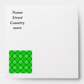 60s pattern MARLENE, green Envelopes
