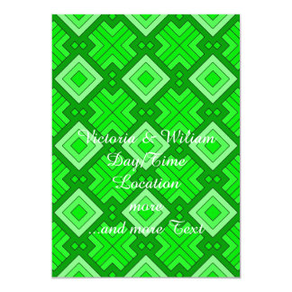 60s pattern MARLENE, green.jpg 5x7 Paper Invitation Card