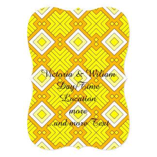 60s pattern MARLENE, yellow 5x7 Paper Invitation Card