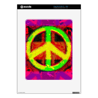 60's Peace Sign Retro Art Electronic Skins Decal For The iPad