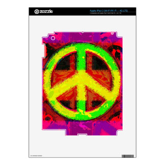 60's Peace Sign Retro Art Electronic Skins iPad 3 Decal