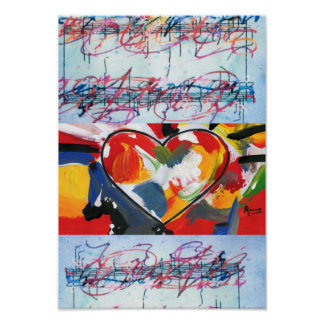 60s Peter Max style I CAN'T STOP LOVING YOU Print