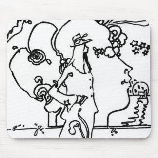 60s Pop art drawing Mousepads