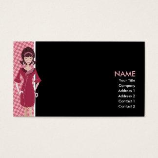 60s retro chick business card
