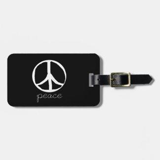 60s Retro Peace Sign Bag Tag