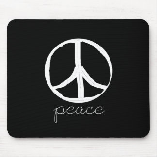 60s Retro Peace Sign Mouse Pad