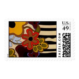 60's Retro Postage Stamps