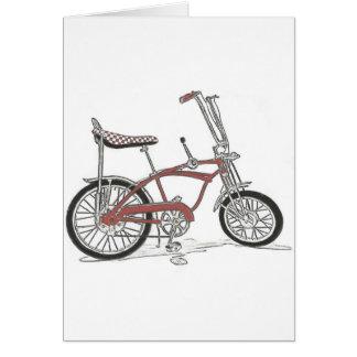 60's Schwinn Stingray Apple Krate Muscle Bike Greeting Card