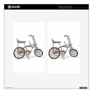 60's Schwinn Stingray Apple Krate Muscle Bike Decal For Kindle Fire