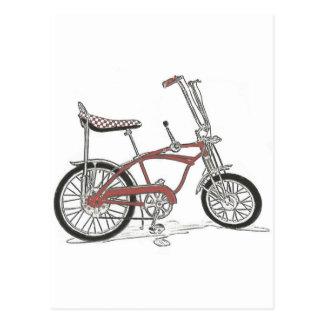60's Schwinn Stingray Apple Krate Muscle Bike Postcard