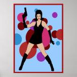 60s Spy Girl Poster