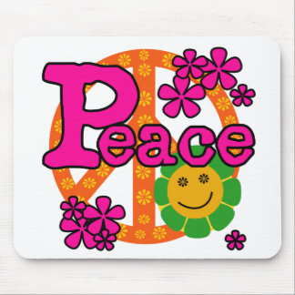 60s Style Peace Mouse Pad